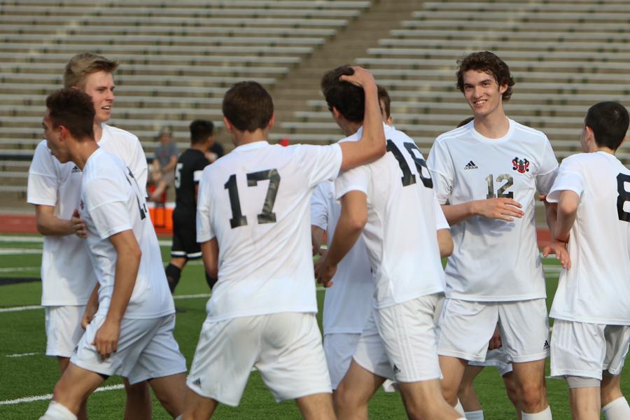 Sophomore+Ethan+Goldner+celebrates+with+Hatzidakis+after+scoring+Westside%27s+second+goal.