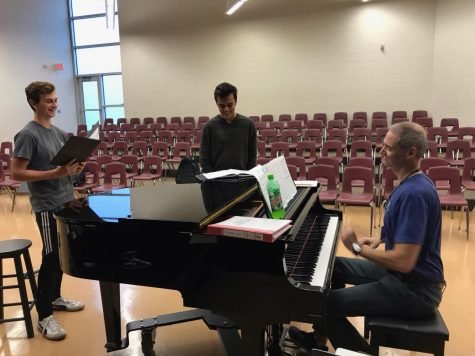 Members of Warrior Choir prepare for coming All-State tryouts