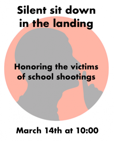 Sit down in the landing on Wed. March 14 to recognize victims in Florida