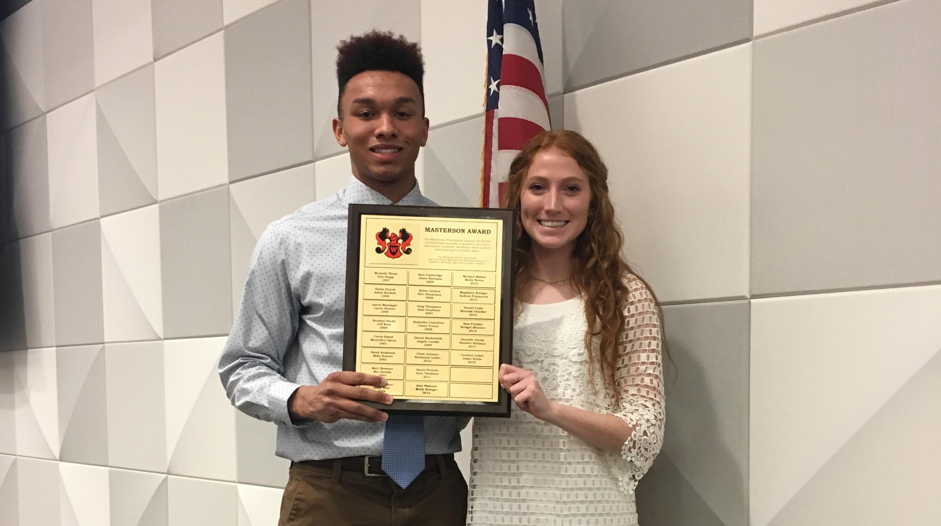Senior student athletes receive Masterson award