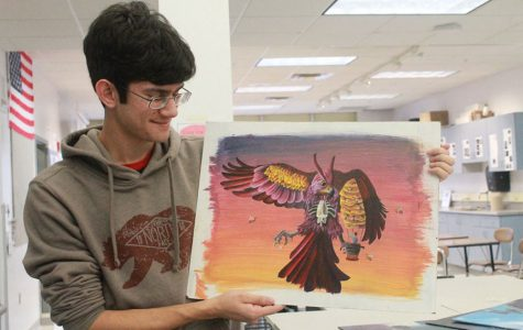 Student's Art Portfolio Draws Attention to Real Life Issues