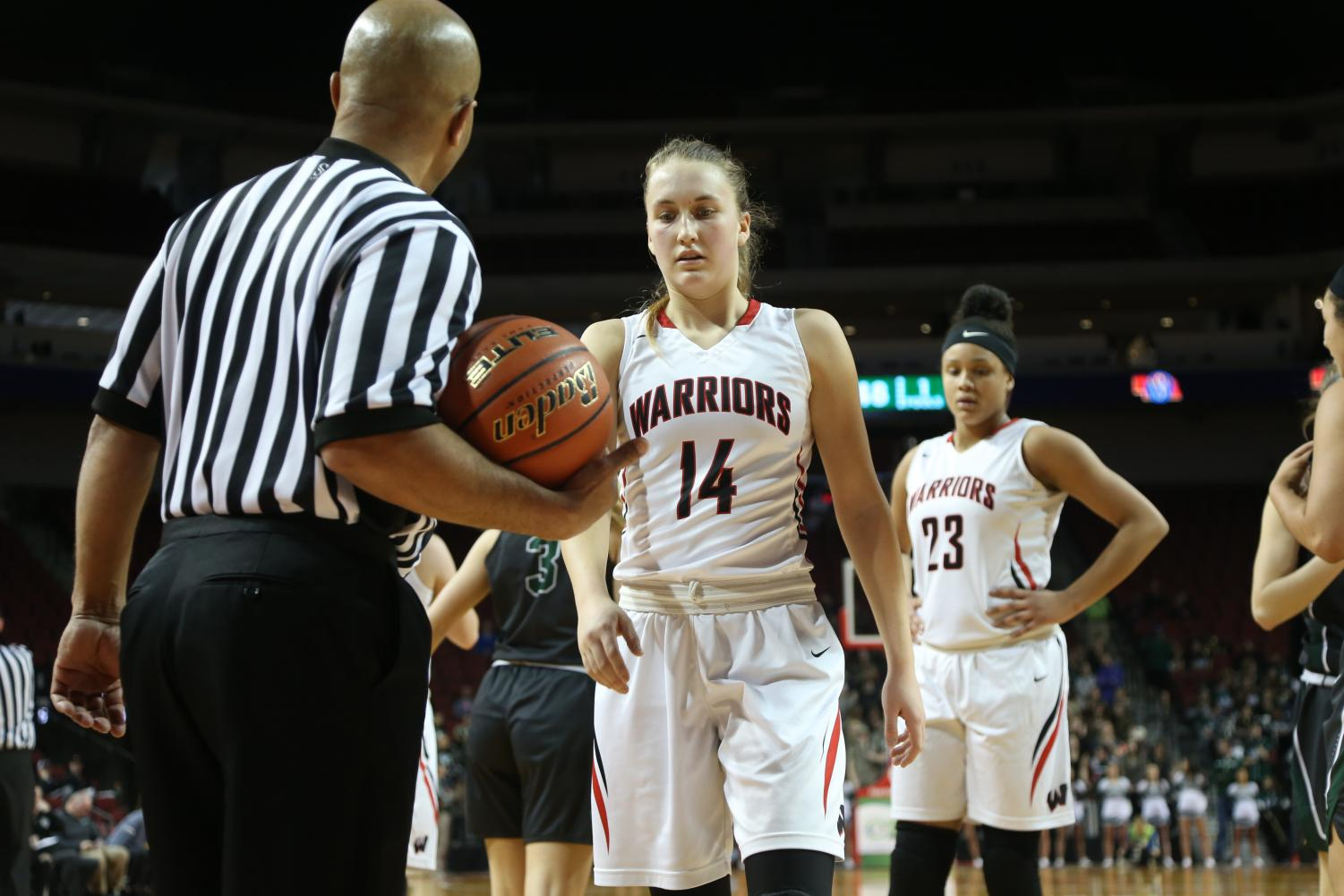 Junior Ella Wedergren scored 18 poins in Thursday's state tournament loss.