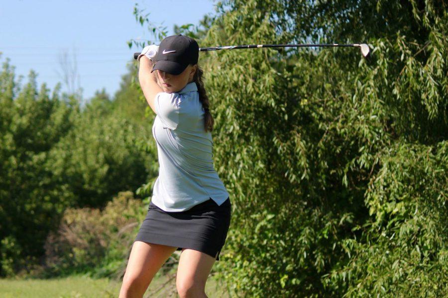 Girls Golf Breaks School Record