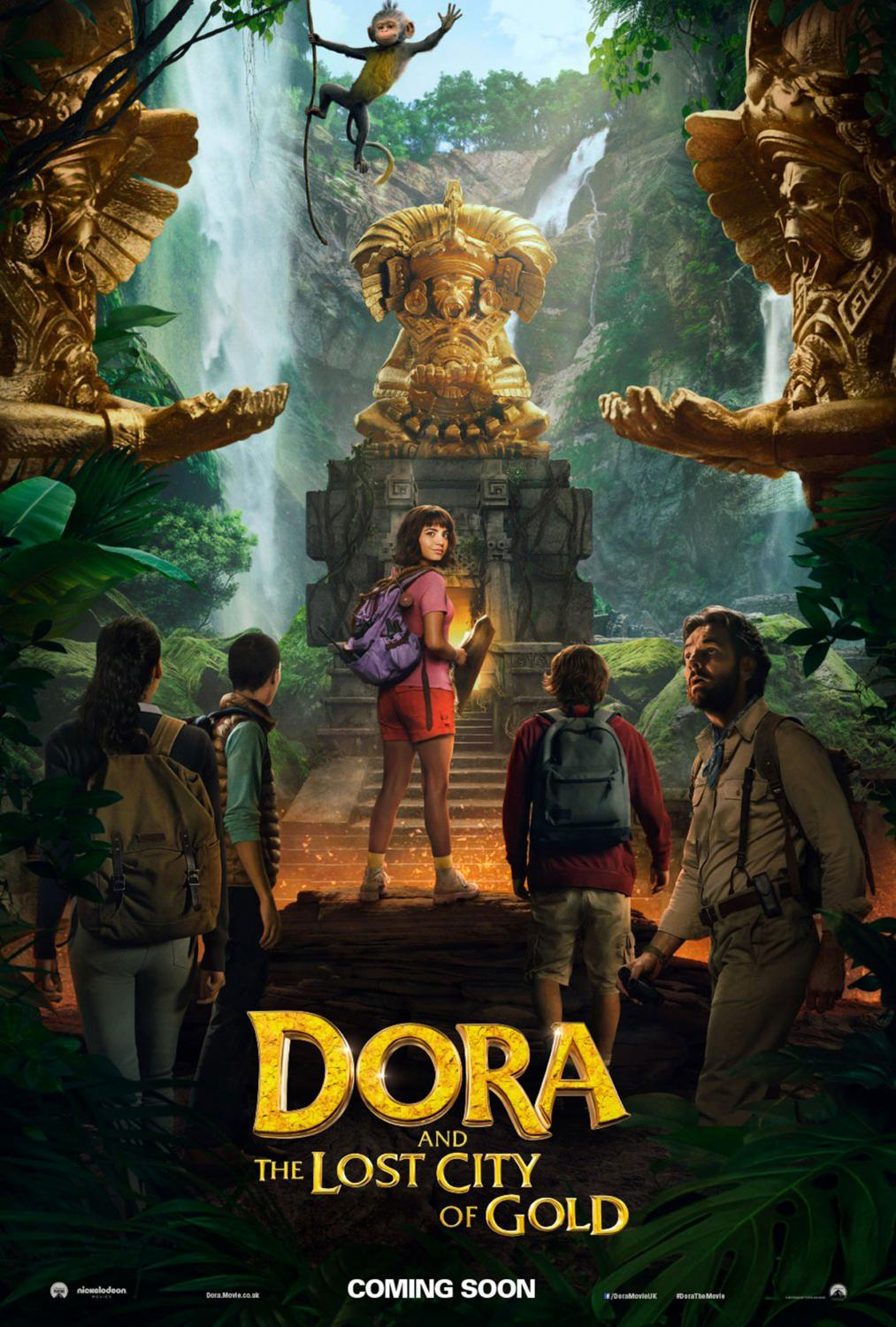 The official movie poster for Dora and the Lost City of Gold.