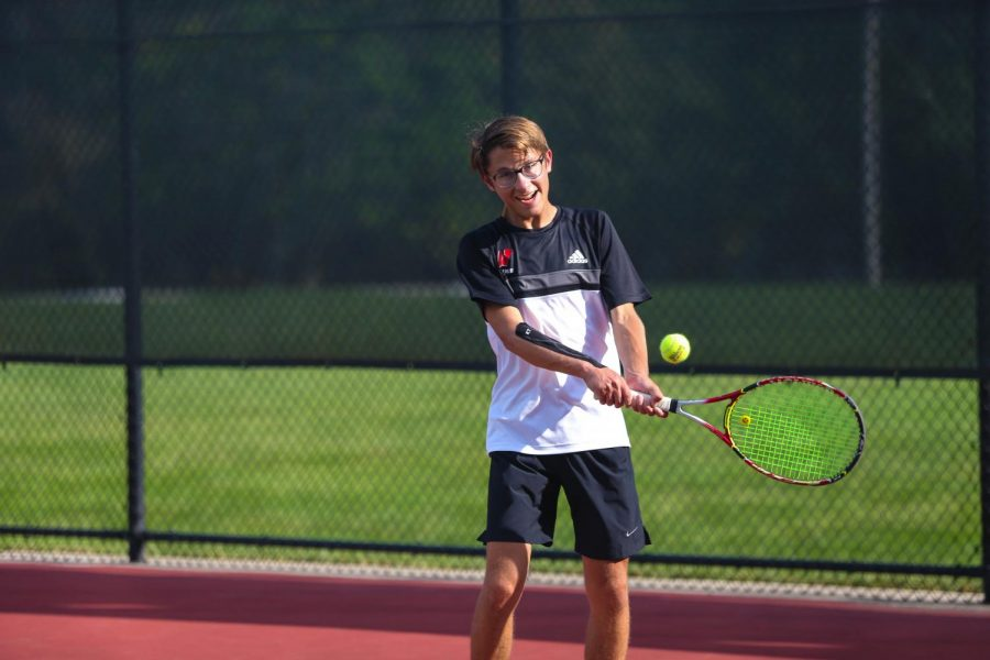Josh Rosenblatt competes as number two singles for the Westside tennis team.
