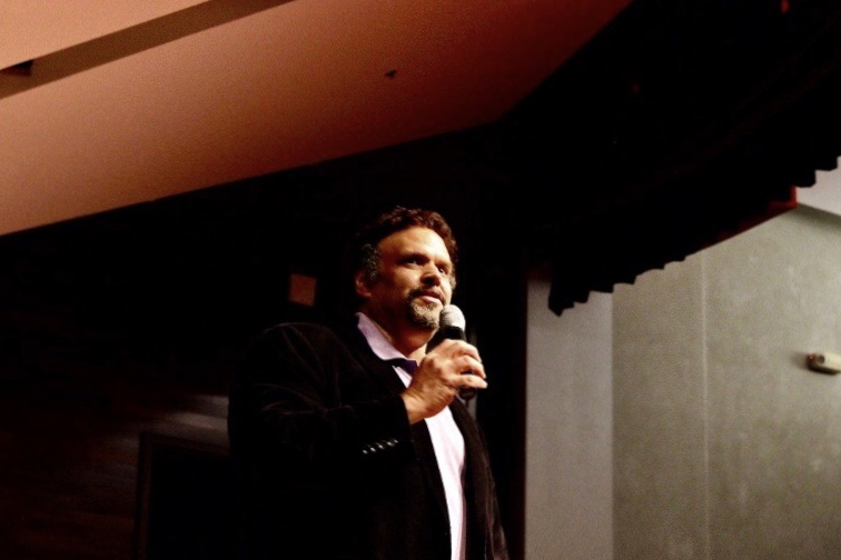 Award-winning author Neal Shusterman visits Westside Middle School, sharing personal details of why and how he writes with the students and staff in attendance.