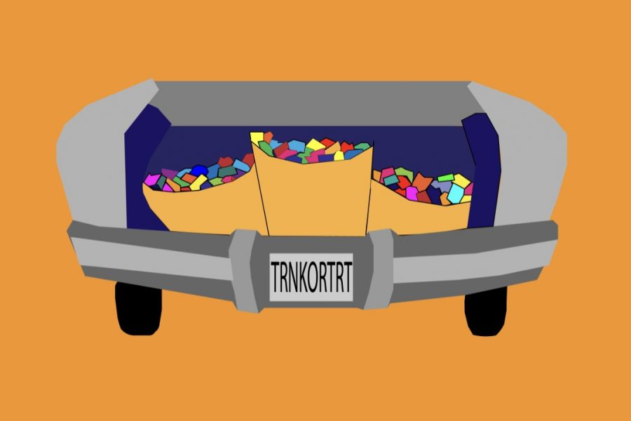 Westside High School and Middle School Student Councils host annual Trunk or Treat together in the main parking lot at Westside Middle School.
