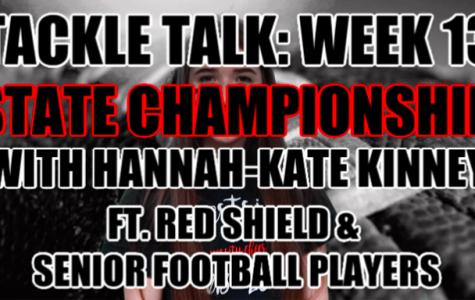 WTV Executive Producer Hannah-Kate Kinney films and produces her last Tackle Talk of the season.