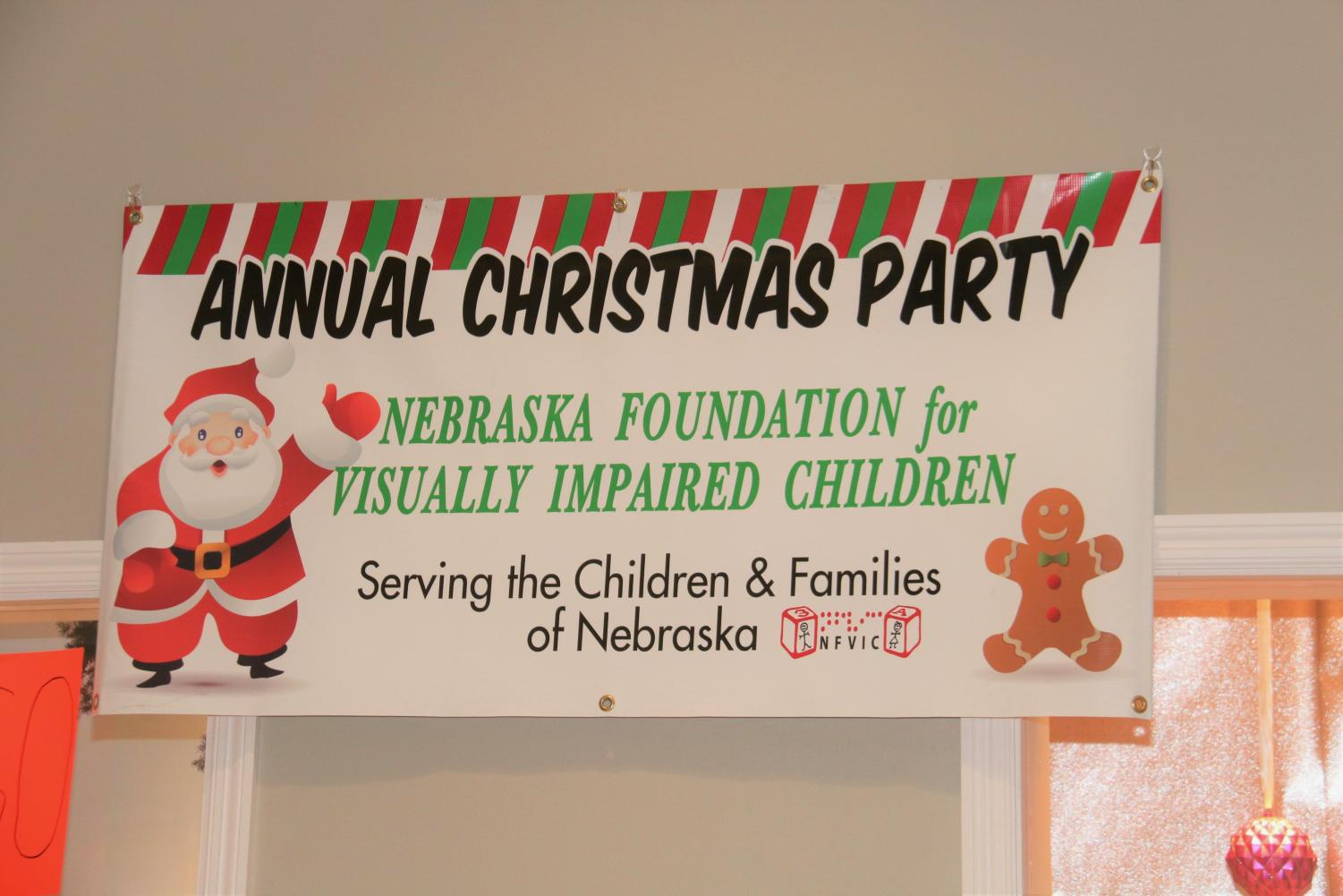 NFVIC hosted their annual Christmas party for visually impaired children at Westroads Mall, this Sunday, Dec. 8.