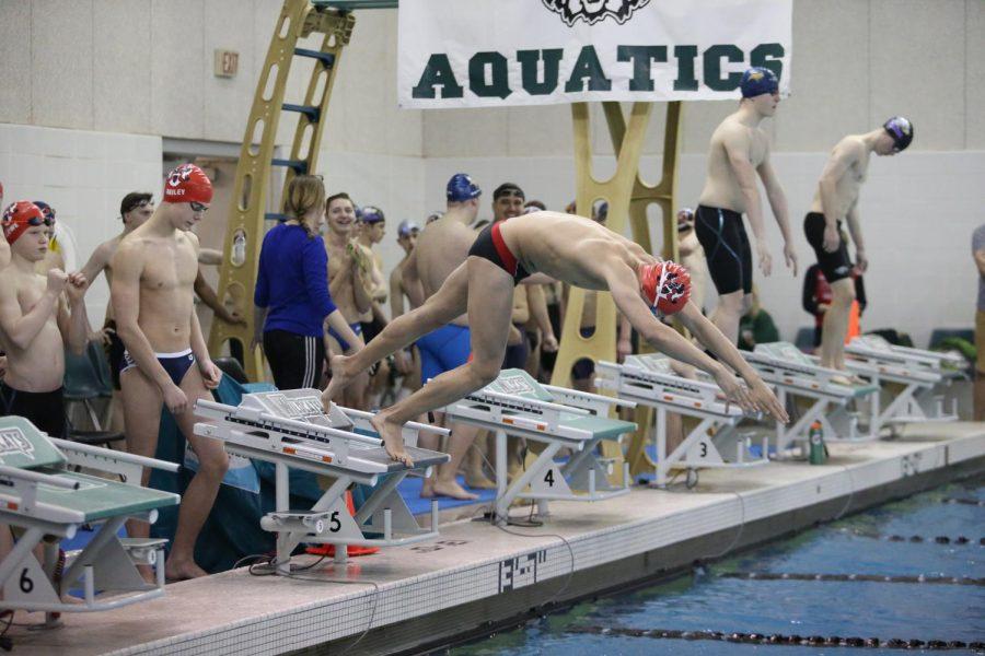 Boys Swimming Breaks Multiple Records in First Major Meet