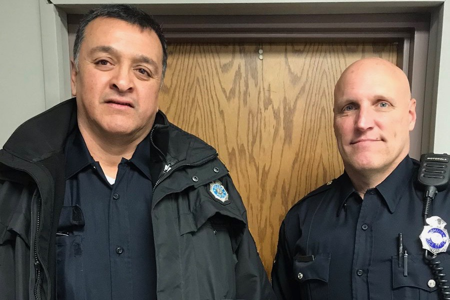 School Resource Officers Kilgore and Negrete received the Police Lifesaving Award for their brave actions in Sept. 2019.