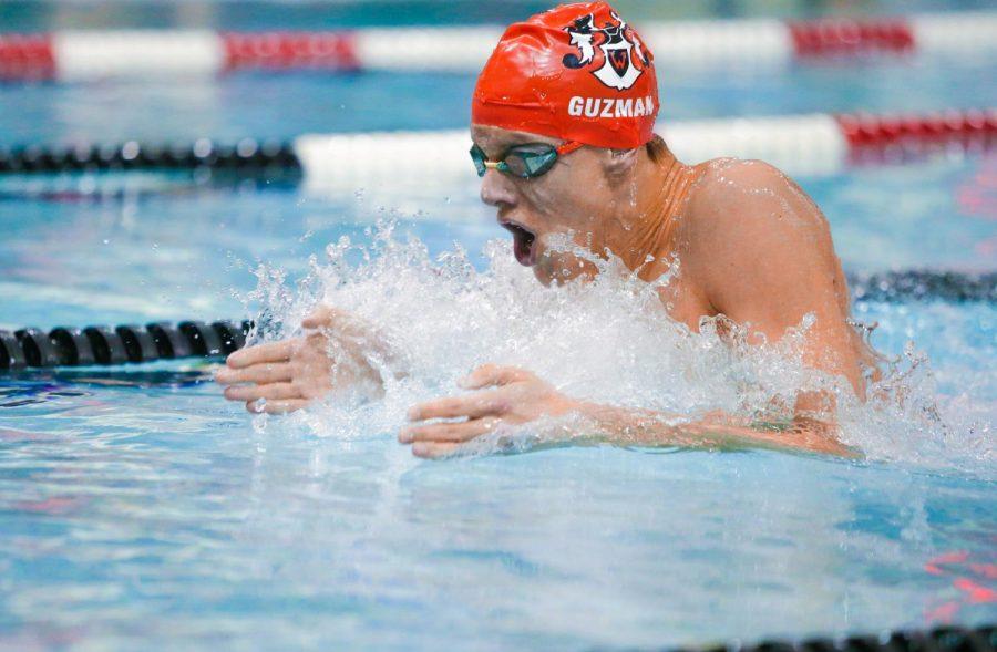 Westside Swimmers Split Dual with Marian, Creighton Prep