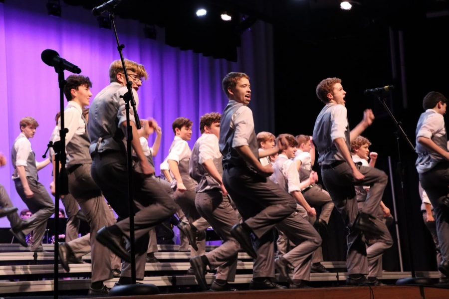 Warrior Express boys number at Westside's annual Competition of Excellence.