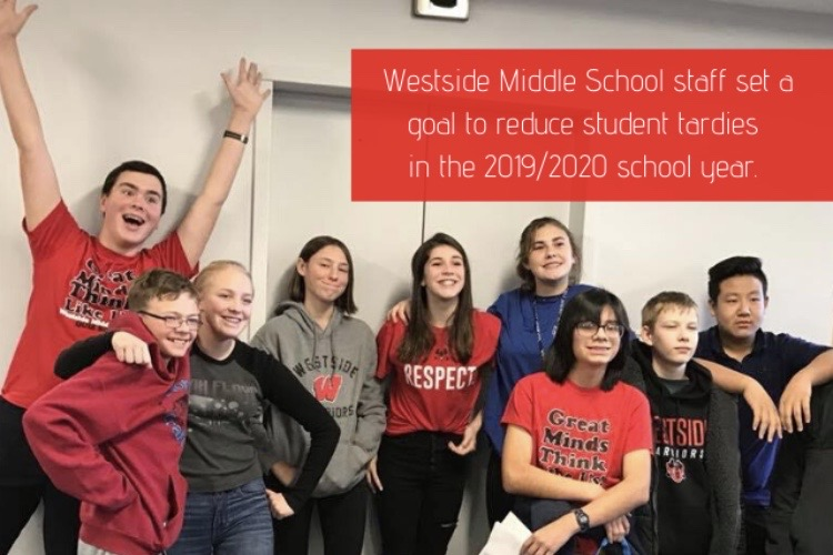 Westside Middle School's administration recently implemented a new tardy policy, with the goal to decrease the amount of tardies by 70%.