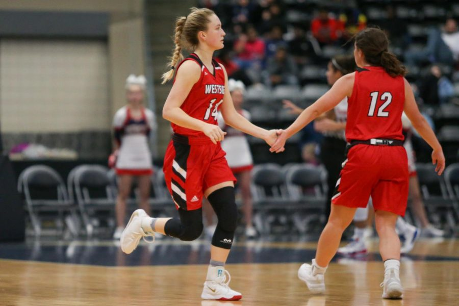 Westside+was+led+by+senior+Ella+Wedergren+with+12+points+on+Tuesday.