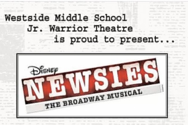 The+Westside+Middle+School%27s+Jr.+Warrior+Theatre+is+to+perform+the+broadway+musical+%22Newsies%22+as+their+spring+musical+this+April.