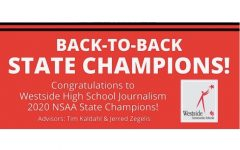 Westside High School's Journalism department recently won the NSAA State Journalism competition for the second year in a row, making them back-to-back champions.