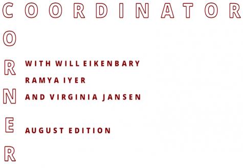 Coordinator Corner: August 2020