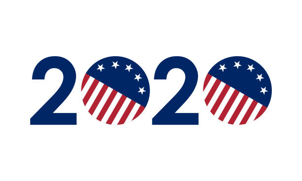 2020+numbers+in+united+states+flag+colors%2C+vector+illustration