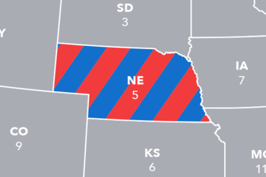 Nebraska's second congressional district's electoral vote went to Joe Biden.