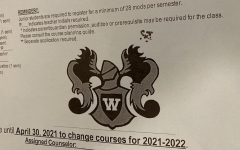 A close-up of the paper needed for students to receive the signatures on.