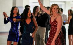 Current sophomores (left to right) Rose Padios, Majesty Marti-Lester and Gina Gage enjoy last year's Winter Formal dance.