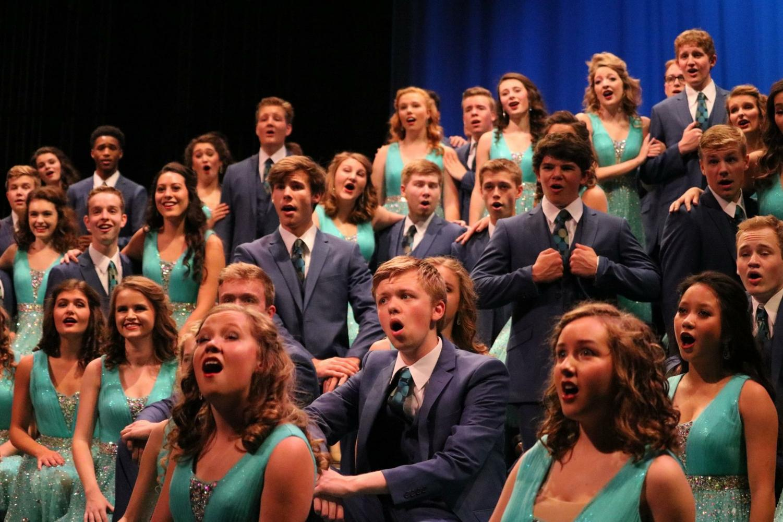 ATSC 2017-2018 sophomores, juniors, and seniors perform at a show.