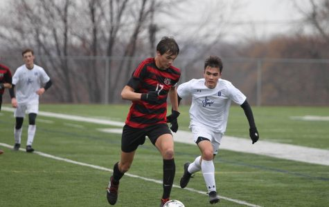 Ethan Goldner is a senior leader on this year's team. This picture was taken during the matchup with Creighton Prep in 2018.