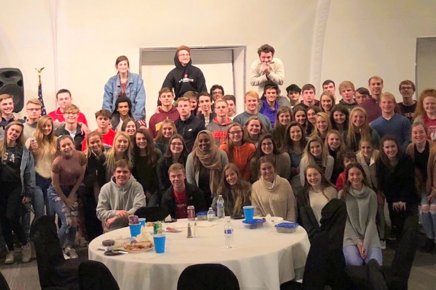 DECA celebrates Thanksgiving together.
