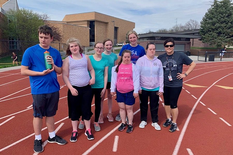 The Unified Track team competes in events like the 100, the long jump, and the 4x1.