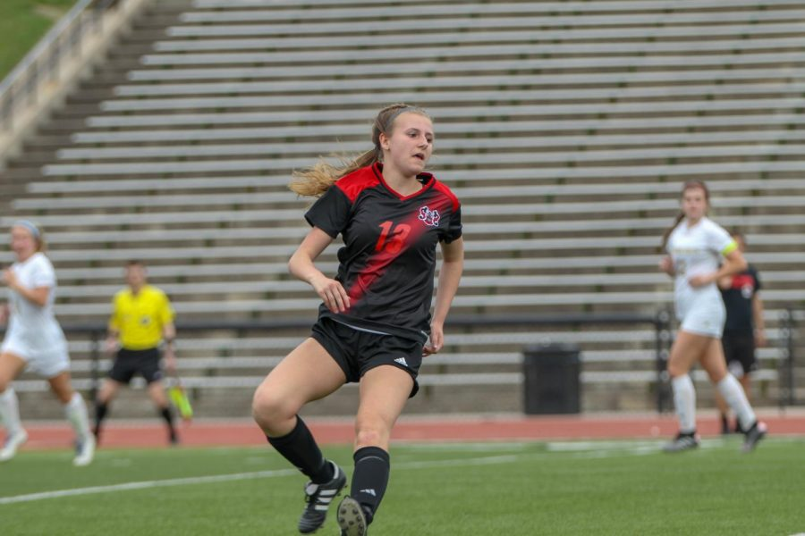 Senior Kaley Heinz scored a goal on Tuesday to set up Thursday's championship match.