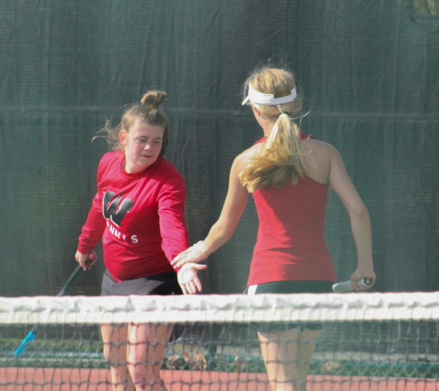 Sophomore Anna Schmillen was a member of the #1 doubles team at the tournament.