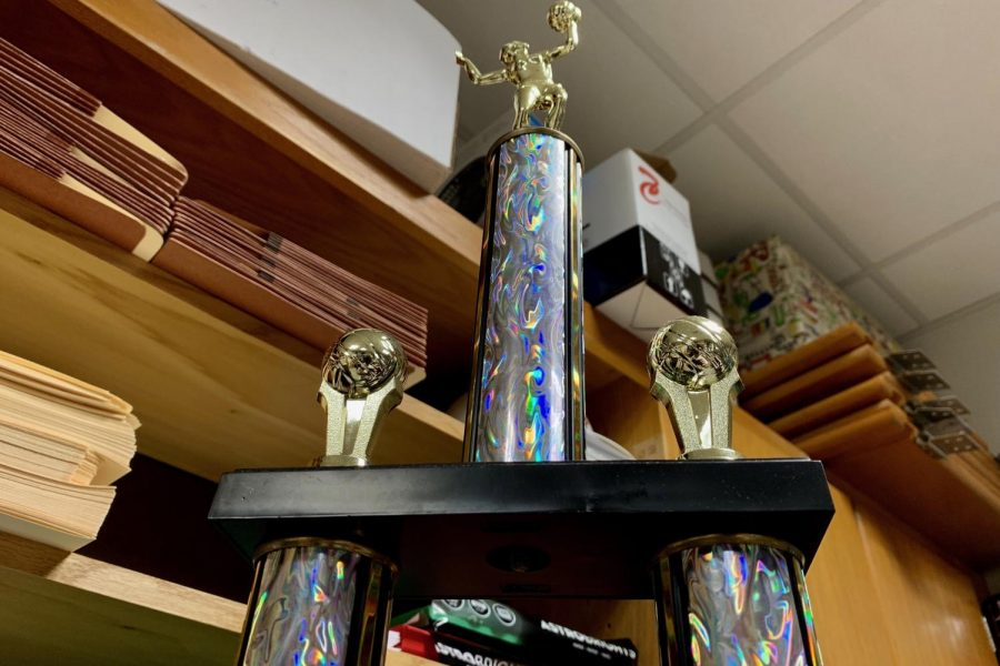 Featured+above+is+the+homeroom+volleyball+trophy+that+Bulin%27s+homeroom+earned+during+the+2018+tournament.