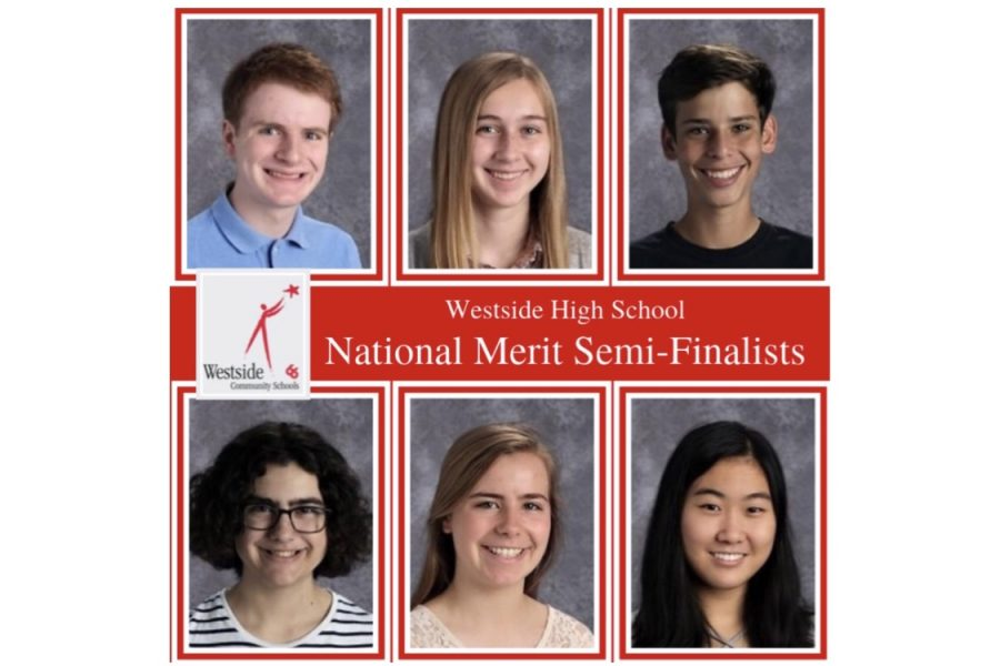 Featured above are the six National Merit Semifinalists from Westside High School.