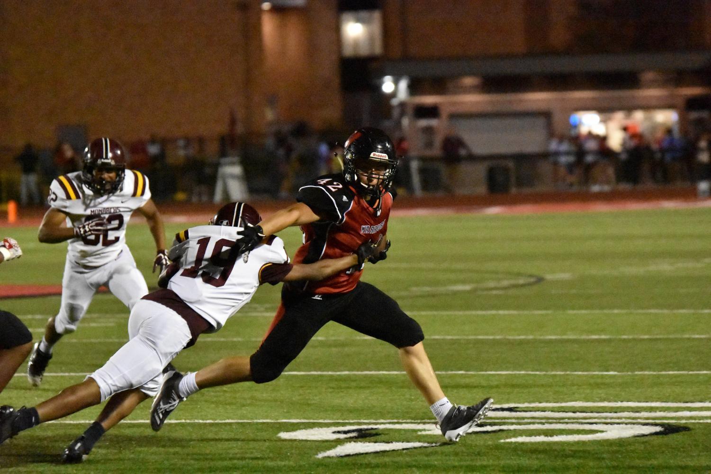 Senior Spencer Schneiderman breaks past a defender.