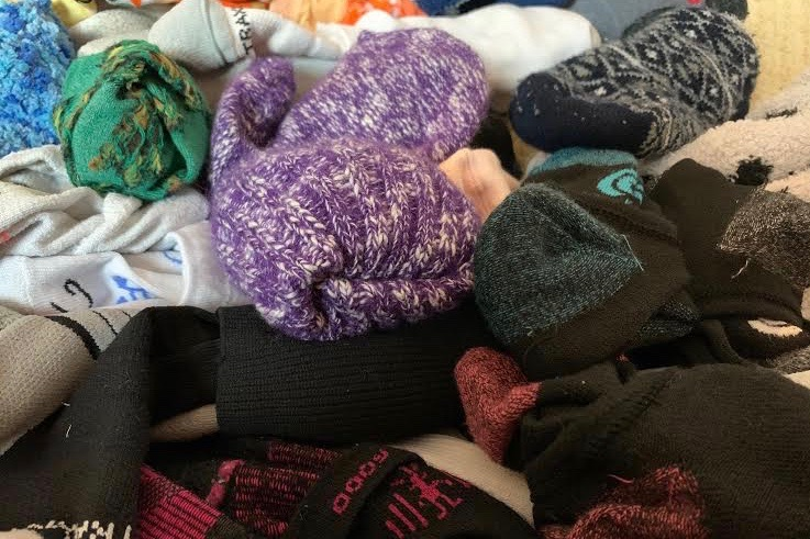 For Westside's CPA group's 'Socktober' fundraiser, high school students are encouraged to bring socks to their homeroom for the District 66 Clothing Closet.