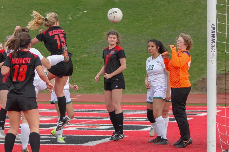 Westside girls varsity soccer played against Benson High School on April 10 last year.