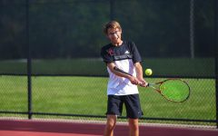 Josh Rosenblatt competes as number two singles for the Westside tennis team.
