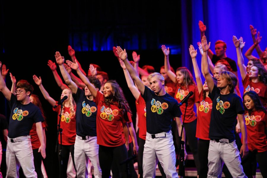 Westside's varsity show choir, ATSC, performs during Cabaret on Sunday, Nov. 3.