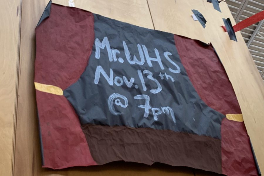 Student Council hosts their annual Mr. WHS pageant tonight at 7 p.m.