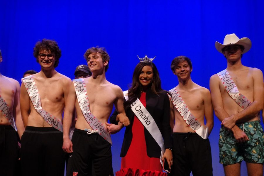 Ms. Omaha with Mr. WHS candidates.