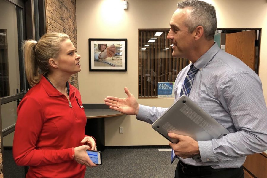 Westside Director of Communications and Engagement, Brandi Paul, and Assistant Superintendent Mark Weichel discuss the ACT prep class that will be offered to students this spring.