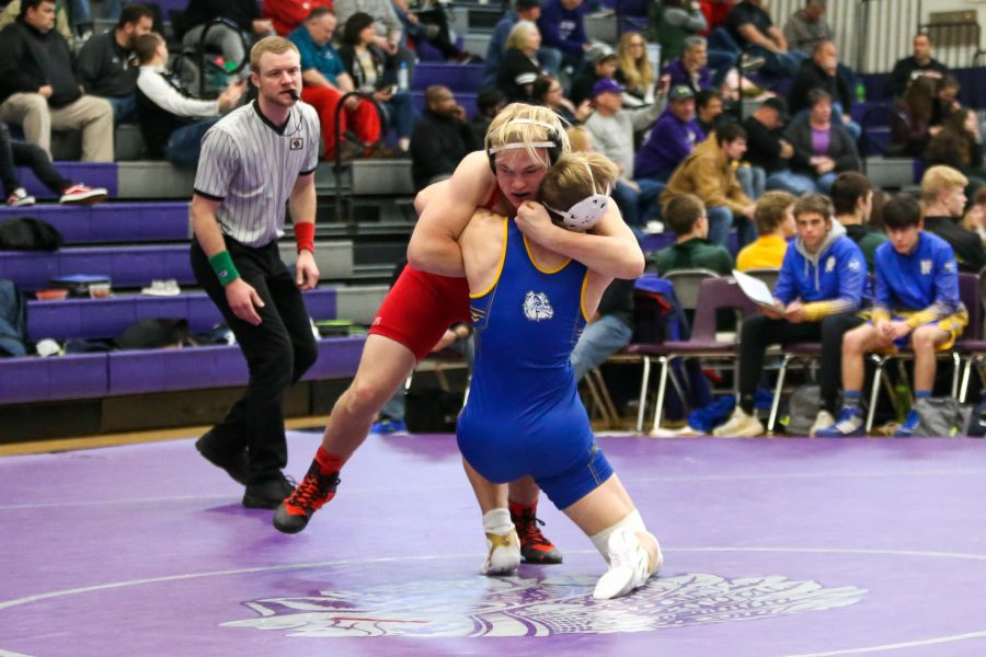 Westside+sophomore+Cole+Haberman+wrestles+at+the+Chieftain+Duals+earlier+this+season.