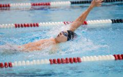 Senior Thomas Lundin placed first in the 50 meter freestyle last week.