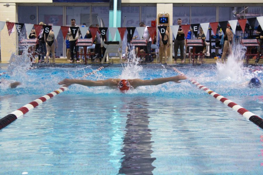 The Westside boys swimming team has yet to be defeated in dual action this season.