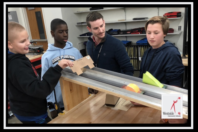 Westside Middle School Engineering and Technology instructor Matt Bova recently received the Teacher Excellence Award.