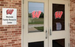 The doors to the Westside Family Resource Center at Pipal Park Community Center.