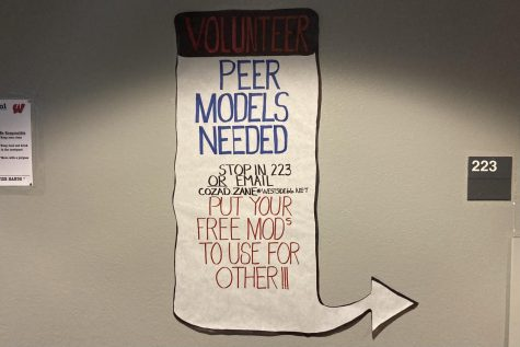 A Peer Models poster outside of Room 223, the assisted learning classroom.