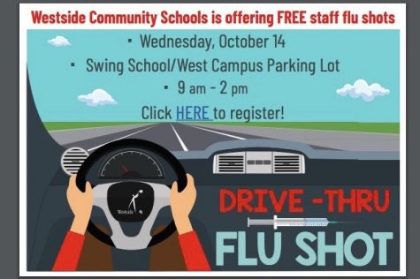 Westside hosted the flu shot drive-thru at the West Campus on Oct. 14.