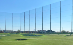 The view of the Topgolf course from a bay perspective.